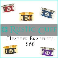 Heather cuff from the Spring 2017 collection. $68 #RusticCuff #Bracelets #KelleyJewelers #DowntownWeatherfordOK Rustic Cuff, Coffee Cans, Spring, Bracelets, Collection, Bracelet, Bangles, Bangle, Arm Bracelets