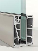 Sistema de fijación de aluminio / para paneles / de barandilla / perfiles de fijación