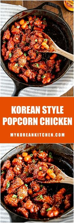 Related posts: Crispy Korean Fried Chicken in a spicy, sweet glaze that is so crispy and sticky… Korean Style Popcorn Chicken Oven Fried Korean Popcorn Chicken How to make crispy Korean chicken nuggets, Dak-gangjeong (닭강정) Asian Recipes, Healthy Recipes, Ethnic Recipes, Healthy Food, Top Recipes, Yummy Recipes, Asian Desserts, Greek Recipes, Korean Recipes