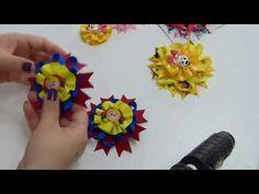 Como hacer moños pares multicolor para Niñas, Clase Virtual para principiante de lazos - YouTube