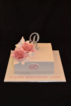 made for my Aunty's birthday her name is Rose, hence the roses:-) Adult Birthday Cakes, 60th Birthday Party, Mom Birthday, Birthday Ideas, Birthday Cake Ideas For Adults Women, Cake Works, Couture Cakes, Cakes For Women, Birthday Cake Decorating