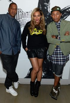 Jay Z Beyonce and Pharrell #BBC