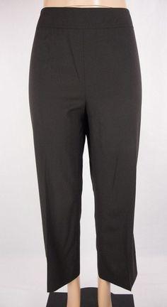 AKRIS PUNTO Dress Pants Size 12 L Brown Wool Career Wear To Work #Akris #DressPants