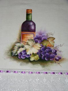 Barradinhos pintadosem panos de prato         Risco de Bia Moreira  ...
