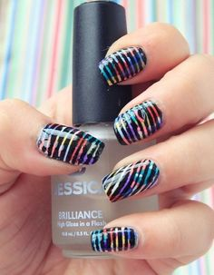 Beautiful & Elegant 30 Striping Tape Nail Art Designs 2017 . It may amaze you to apperceive that decorating your nails is not article that is recent, it has been activity on for bags of years. The trends now are no agnosticism added avant-garde not to ack