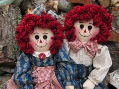 Raggedy Ann and Andy by granniesraggedybags on Etsy, $52.00