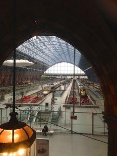 St. Pancras Train station where the Eurostar Chunnel train comes into London.