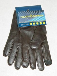 Club Room Mens Gloves Touch Screen Leather Gloves Wool Lined NWT Size L  MSRP  90 830a93eba0c