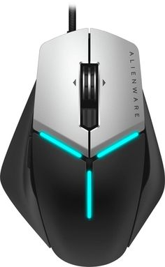 Alienware - Elite USB Optical Gaming Mouse - Black/silver