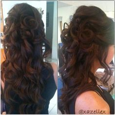 full half up half down curls in back, just add a veil.