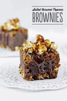 Salted Caramel Popcorn Brownies Recipe Here: http://loveswah.com/2014/09/salted-caramel-popcorn-brownies/