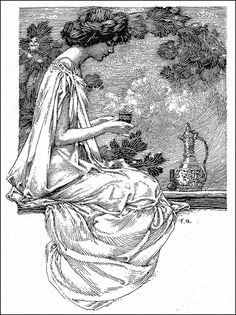 """Franklin Booth for """"Glimpses of Munich Life"""" by Rene Reinicke, published in Scribner's Magazine, April 1908 pen & ink Ink Illustrations, Illustration Art, Franklin Booth, Ink Master, Black And White Illustration, Ink Pen Drawings, Wood Engraving, Magazine Art, Ink Art"""