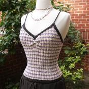 Olivia Knitted Tank - via @Craftsy