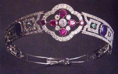 Ruby, sapphire and diamond Tiara - Queen Marie of Romania