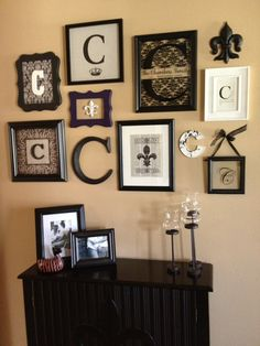 Great idea for wall art!
