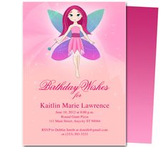 Kids Party : Twinkle Kids Birthday Party Invitation Template