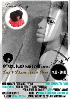 NaturalBlackHair-event presents Luv & Learn Your Hair-Amsterdam with Taren Guy 21st of March 2014