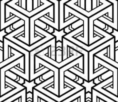 Monochrome abstract interweave geometric seamless pattern  Stock Vector
