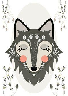 wolf / loup by Mundobu Wolf Illustration, Tier Wolf, Grafik Design, Illustrations Posters, Illustrators, Graffiti, Artsy, Painting, Art Prints