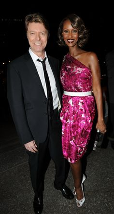 UNITED STATES - APRIL 23: David Bowie and Iman at the vanity fair Tribeca Film Festival Party held at The NY State Supreme Courthouse... (Photo by Richard Corkery/NY Daily News Archive via Getty Images) via @AOL_Lifestyle Read more: http://www.aol.com/article/2016/01/11/david-bowie-and-iman-had-a-storybook-romance-for-25-years/21295537/?a_dgi=aolshare_pinterest#slide=3765456