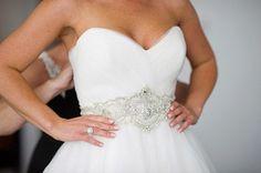 mariage ceinture strass