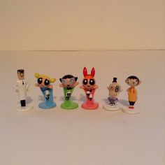 Lot Of 6 Powerpuff Girls Board Game Playing Pieces Replacement Parts…