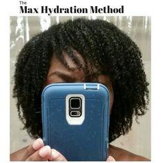 Maximum Hydration Method for Moisturized Curls