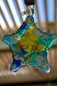 DIY melted bead sun catcher