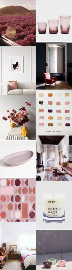jewel-toned home decor and design inspiration. #jeweltones #jeweltoned #pastels #purple #mauve #pink #floral #flowers #floralarrangements #glasses #glassware #pinkglasses #candles #paint #wallpaint #designinspiration #interiordesign #interiordecorating #ceramics #art #artprints