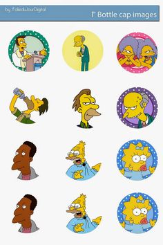 Free Bottle Cap Images: The Simpsons Free bottle cap images