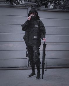 Mode Cyberpunk, Cyberpunk Clothes, Cyberpunk Fashion, Aesthetic Grunge Outfit, Aesthetic Clothes, Female Pose Reference, Cool Outfits, Fashion Outfits, Tactical Clothing