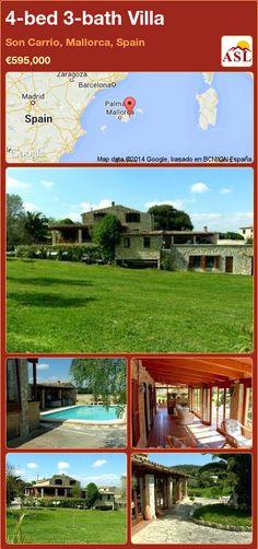 4-bed 3-bath Villa in Son Carrio, Mallorca, Spain ►€595,000 #PropertyForSaleInSpain