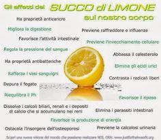 Gli effetti del Succo di Limone sul nostro corpo