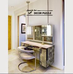 modern mirrored dressing table designs and ideas