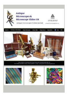 If you are buying or selling antique scientific instruments and associated items. We provide unique services of antique microscopes and antique microscope slides and have been consistently offering the highest prices on the internet for slide collections.