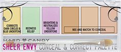 Hard Candy Sheer Envy Conceal  Corrector Palette 941 Light Medium *** Continue to the product at the image link. (Note:Amazon affiliate link)