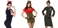 1940s WWII inspired womens costumes