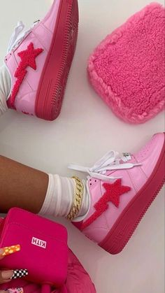 Sneakers Fashion, Shoes Sneakers, Shoes Heels, Pumps, Pink Shoes, Swag Shoes, Aesthetic Shoes, Pink Aesthetic, Fresh Shoes