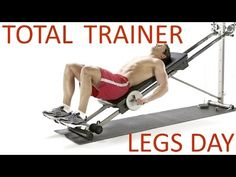 Total Trainer / Pilates Reformer Legs Workout 1 (by Ultimate Pila. Total Gym Workouts, Gym Workouts Women, Best Ab Workout, Fast Workouts, Ultimate Workout, Workout Videos, Gym Leg Day, Gym Workout Chart, Workout Routines