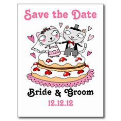 save the date wedding cats post cards