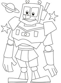 Free Printable Robot Coloring Pages Free. Robot is a mechanical device that can perform physical tasks, either using human supervision and control, or using a pre-defined program (artificial i. Monster Coloring Pages, Boy Coloring, Dinosaur Coloring Pages, Free Coloring Sheets, Coloring Pages For Girls, Cartoon Coloring Pages, Animal Coloring Pages, Coloring For Kids, Colouring Pages