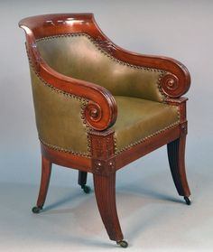 Caster detail: William IV chair.