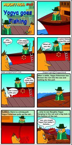 Yogya goes Fishing | Daily Comics from Yogyaland.com www.yogyaland.com/comic_strip/yogya-goes-fishing Funny Comics For Kids, Going Fishing, Comic Strips, Boat, Dinghy, Comic Books, Boats, Comics, Ship