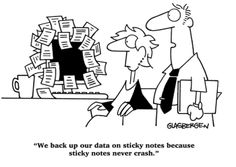 Sticky notes everywhere-definitely me. I have a file for old sticky notes. Today Cartoon, Cartoon Jokes, Funny Cartoons, Funny Friday Memes, Friday Humor, Monday Memes, Office Humor, Work Humor, Work Funnies