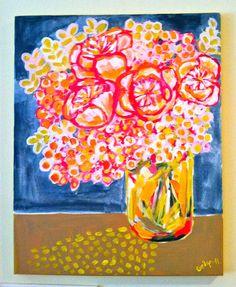 Evelyn Henson, Flower painting, www.etsy.com/shop/evelynhenson