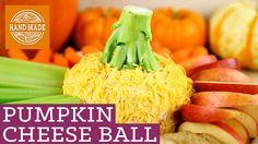 Pumpkin Cheese Ball Dip! HGTV Handmade Friendsgiving Party