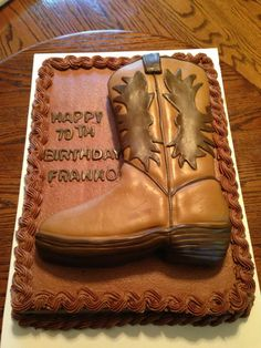 Cowgirl Boot Cake Cakes I Ve Made Pinterest