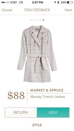 Stitch fix stylist- this trench coat is something I need to try on! Market & Spruce Marsay Trench Jacket