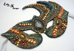 Stunning Bead Embroidery Masquerade Mask by ErikawithaKDesigns