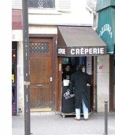 Crepe stand, Paris.